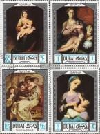 Dubai 341-344 (completa Edizione) Usato 1969 Dipinti - Dubai