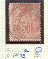 FRANCE - CAD BIRTOUTA   (CATALOGUE MATHIEU)  BUREAU D'ALGER - Marcophilie (Timbres Détachés)