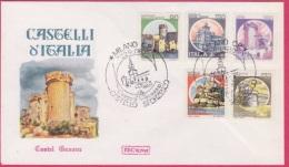 FDC Italia 1980 Serie Castelli Gavone - F.D.C.