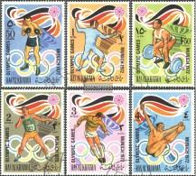 Ras Al Chaima 649A-654A (completa Edizione) Usato 1972 Olympics. Giochi '72, Monaco Di Baviera - Ra's Al-Chaima
