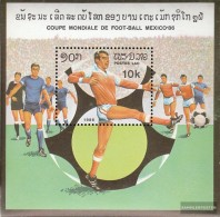 Laos Block109 (kompl.Ausg.) Gestempelt 1982 Fußball-WM 1986, Mexiko - Laos