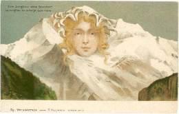 F. Killinger – Montagnes Humanisées La Jungfrau Ou La Vierge Sans Rivales   ( ILL ) - Autres Illustrateurs