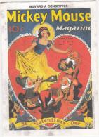 Buvard Walt Disney Productions / Mickey Mouse Magazine February 1938 / Blanche-Neige / St Valentines Day - Löschblätter, Heftumschläge