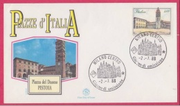FDC Italia 1988 Serie Piazze  Pistoia - F.D.C.