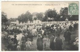 71 - SAINT-CHRISTOPHE-EN-BRIONNAIS - Champ De Foire (7) - ZZ 715 - 1910 - Marché Aux Bestiaux - Otros Municipios