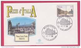 FDC Italia 1988 Serie Piazze Trieste - F.D.C.