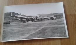 Grande Photo D ´ école  Année  60-70 Lapie:  Corse AJACCIO  Aéroport  Avion Air France ( Voir  Descreptif) - Ajaccio