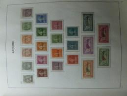 Andorre Francais 1/23 A Charnieres Belle Série Cote 1350 Euro Année 1931 - Frans-Andorra