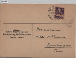 1934 Tell 184 - Karte Von Dornach (Frauen Liga Der Tuberkulose) Nach Bombinasco - Schweiz