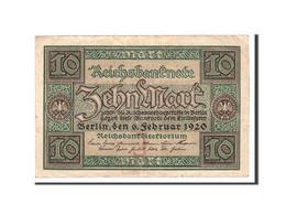 Allemagne, 10 Mark, 1920, KM:67a, 1920-02-06, TTB - [ 3] 1918-1933 : Weimar Republic