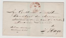 NLC038 / Deventer 1855. Militärbrief Mit Trauersiegel Umseitig - Periode 1852-1890 (Willem III)