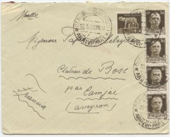 Italie,raccomandate,1939, Cervignano Del Friulli,Francia, Camjac,Château Du Bosc, Lieu De Naissance De Toulouse-Lautrec - Machine Stamps (ATM)