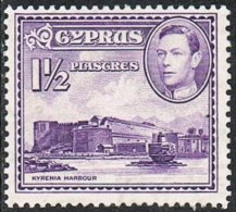 Cyprus SG155a 1943 Definitive 1½pi Mounted Mint [31/27857/2D] - Cyprus (...-1960)