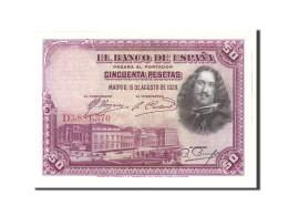 Espagne, 50 Pesetas, 1928, KM:75b, 1928-08-15, SPL - 50 Pesetas