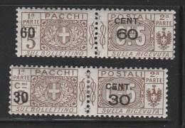Italy Italia 1923 Pacchi Postali Soprastampati MH (B356-6) - Pacchi Postali