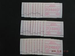 ATM.Jac Papier Crème. Reeks Snijlijn Onder. 10 X. - Automatenmarken (ATM)