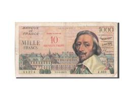 France, 10 Nouveaux Francs On 1000 Francs, 1955-1959 Overprinted With ''Nouve... - 1955-1959 Surchargés En Nouveaux Francs