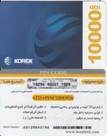 KURDISTAN(North IRAQ) - Korek Telecom Prepaid Card 10000 IQD, Used - Irak
