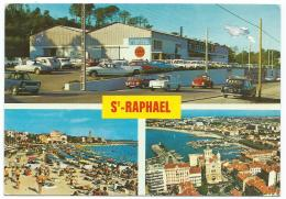 CP ST SAINT RAPHAEL, MAGASIN CENTRE DISTRIBUTEUR E. LECLERC, AUTOS VOITURES ANCIENNES, COCCINELLE, CITROEN DS, VAR 83 - Saint-Raphaël