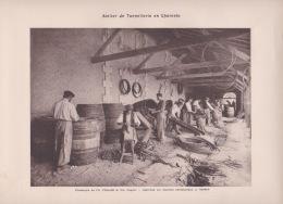 ATELIER DE TONNELLERIE EN CHARENTE    PHOTOTYPIE CH COLLAS - Estampas & Grabados