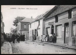 80, CORBIE, RUE BULOT, EFFET D'UNE BOMBE, CAFE DES OUVRIERS - Corbie