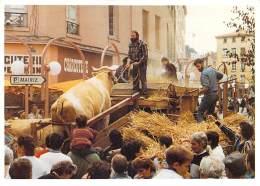 AGRICULTURE ( EVENEMENT LYON VAISE 09/1989 Sie Scènes De La Vie D'Autrefois ) Batteuse ( Tirage Limité 300 Ex.) CPM GF - Landwirtschaftl. Anbau