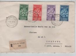 Poste Vticane Cita Del Vaticano Ambassade De Belgique Près Le St.Siège Registered Cover 5/6/39 V.Zoersel PR3223 - Lettres & Documents
