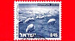 ISRAELE - Usato - 1973 - Paesaggi - Landscapes Of Israel - Monte Hermon - 0.45 - Gebruikt (zonder Tabs)