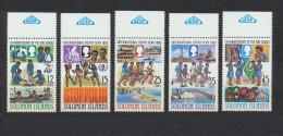 7203) MiNr.: 557-61, Block 7 Und 14 Postfrisch/** - Solomoneilanden (1978-...)