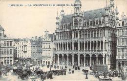 Belgique - Bruxelles - La Grand'Place Et La Maison Du Roi - Squares