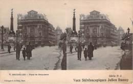 Belgique - Bruxelles - Place De Brouckère, Vues Stéréoscopiques Julien Damoy - Squares