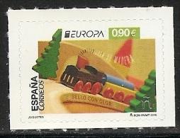 2015-ED. 4964 -COMPLETA-EUROPA. JUGUETES. TREN DE MADERA. SELLO CON OLOR -NUEVO - 2011-... Unused Stamps