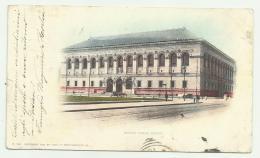 BOSTON PUBLIC  LIBRARY ANNO 1891 VIAGGIATA FP - Boston