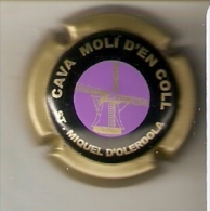 PLACA DE CAVA MOLI D´EN COLL CON UN MOLINO (MOULIN-MILL) (CAPSULE) Viader:12993 - Placas De Cava
