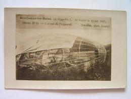 Cpa, Carte Photo, Bourbonne Les Bains, Le Zeppelin L.649 Tombé Le 20 Oct. 1917. Cliché N°1, L'avant De L'appareil - Bourbonne Les Bains