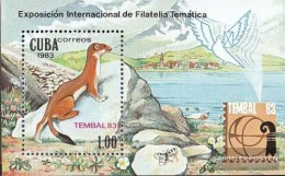 Cuba Block77 (complete Issue) Fine Used / Cancelled 1983 TEMBAL `83 - Blocks & Sheetlets