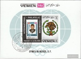 Yemen (UK) Block144b (complete Issue) Fine Used / Cancelled 1968 EFIMEX '68 - Yemen