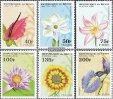 Benin 697-702 (complete Issue) Unmounted Mint / Never Hinged 1995 Flowers - Benin - Dahomey (1960-...)