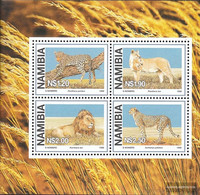Namibia - Southwest Block37 (complete Issue) Unmounted Mint / Never Hinged 1998 Locals Big Cats - Namibia (1990- ...)