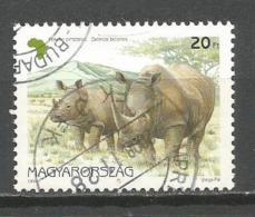 Hungary 1997. Used Rhinoceros Rhino - Used Stamps
