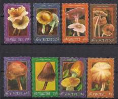 St Vincent 1992 Mushrooms   Mi  2045-2050, 2054-2055, MNH(**) - Mushrooms