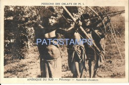 54042 ARGENTINA PILCOMAYO MISSIONS OBLATS COSTUMES APPRENTICES HUNTERS POSTAL POSTCARD - Argentina