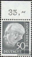FRD (FR.Germany) 189x OR Upper Edge Piece Unmounted Mint / Never Hinged 1954 Heuss - Unused Stamps