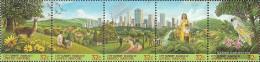 UN - New York 711-715 Five Strips (complete Issue) Unmounted Mint / Never Hinged 1996 HABITAT II - New York – UN Headquarters