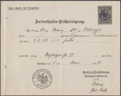 Allemagne / Pologne 1927. Document Fiscal De La Police De Breslau Ou Wrocław. Timbre Avec Aigle à 1 M - Police - Gendarmerie