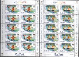 """Moldova 2016 """"XXXI Summer Olympic Games. Rio De Janeiro"""" 2 Sheets Quality:100% - Sommer 2016: Rio De Janeiro"""