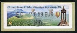 """Timbre** De Dist. De 2014 """"EC  ***0,59  € - ECOPLI - Salon Philatélique De Printemps Clermont Ferrand"""" - 2010-... Geïllustreerde Frankeervignetten"""