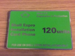Very  Early British Telecom Card - Shell Expro Installation Card .. - Nr. 204B - Used Condition - Ver. Königreich