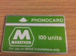 Very  Early British Telecom Card - Marathon Installation Card .. - Nr. 112L- Used Condition - Ver. Königreich