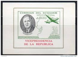 Ecuador - Equateur 1949, MNH S/S Imperf/non-dentele (Roosevelt, VICEPRESIDENCIA - AEREO SERVICIO OFICIAL  30 CT) - Ecuador